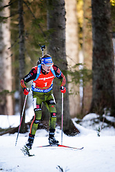 Winner Simon Schempp (GER) competes during Men 12,5 km Pursuit at day 3 of IBU Biathlon World Cup 2015/16 Pokljuka, on December 19, 2015 in Rudno polje, Pokljuka, Slovenia. Photo by Ziga Zupan / Sportida