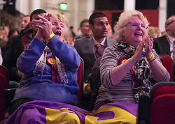 © Licensed to London News Pictures. 27/02/2015. Margate, UK . Delegates at the conference. The UKIP spring conference at Margate Winter Gardens 27th February 2015. Photo credit : Stephen Simpson/LNP