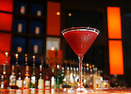 A pomegranate martini is served at Martini Park located at 151 W. Erie St. in Chicago on Monday, July 9, 2007. The drink contains pomegranate liqueur, pomegranate infused Pearl vodka, pomegranate juice, simple syrup, lime juice and fresh blueberry garnish. (Chicago Sun-Times)