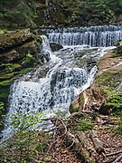 Wodospad Szklarki (woj. dolnośląskie), 26.07.2013. Wodospad Szklarki w Karkonoskim Parku Narodowym.