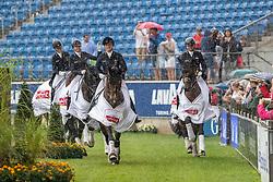 Team Deutschland<br /> Aachen - CHIO 2019<br /> Lambertz Nationenpreis<br /> Mannschaftswertung CDIO5* Siegerehrung<br /> 20. Juli 2019<br /> © www.sportfotos-lafrentz.de/Stefan Lafrentz