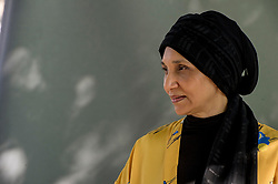 Pictured: Leila Aboulela<br /> <br /> Leila Aboulela (born 1964), Arabic 'ليلى ابوالعلا' is a Sudanese writer who writes in English. Her most recent books are the short story collection Elsewhere, Home and the novel, The Kindness of Enemies which is inspired by the life of Imam Shamil, who united the tribes of the Caucasus to fight against Russian Imperial expansion