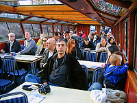 Interior of canal boat in Amsterdam, Holland, 200710070113.<br />
