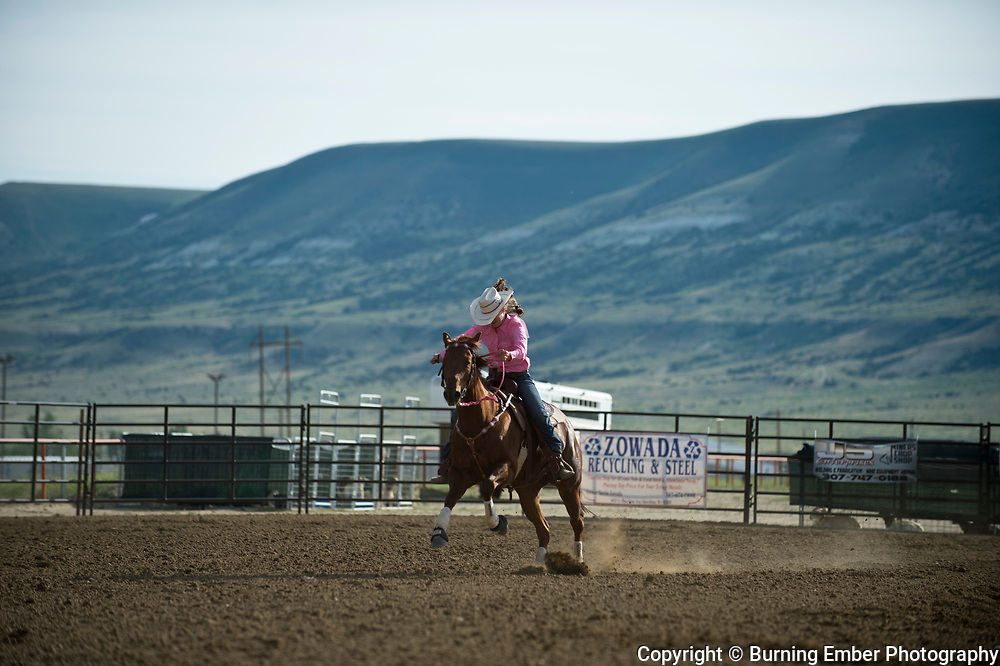 Rachel Retherford in the Pole Bending Event Thursday 2nd round event at the Wyoming State High School Finals Rodeo in Rock Springs Wyoming.  Photo by Josh Homer/Burning Ember Photography.  Photo credit must be given on all uses.