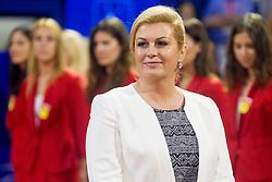 President of Craotia in final round of singles at 26. Konzum Croatia Open Umag 2015, on July 26, 2015, in Umag, Croatia. Photo by Urban Urbanc / Sportida