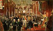 Coronation of Emperor Pedro I of Brazil 1822. Jean-Baptiste Debret