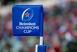 December 9, 2018 - Limerick, Ireland - Heineken Champions Cup logo pictured during the Heineken Champions Cup Round 3 match between Munster Rugby and Castres Qlympique at Thomond Park Stadium in Limerick, Ireland on December 9, 2018  (Credit Image: © Andrew Surma/NurPhoto via ZUMA Press)