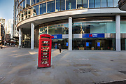 Metro Bank on London Wall open during the coronavirus pandemic on the 2nd May 2020 in London, United Kingdom.