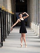 Ballet dancer at the Palais Royale in Paris France.  OLYMPUS DIGITAL CAMERA