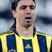Fenerbahce's Mehmet TOPUZ during their Turkish Superleague Derby match Besiktas between Fenerbahce at the Inonu Stadium at Dolmabahce in Istanbul Turkey on Thursday, 207 October 2011. Photo by TURKPIX