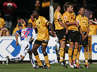 Fotball<br /> Foto: SBI/Digitalsport<br /> NORWAY ONLY<br /> <br /> Cambridge United v Bristol Rovers<br /> Coca-Cola Championship football league two<br /> Abbey Stadium 09/10/2004<br /> <br /> <br /> Cambridge take the heat from Bristols penalty kick.