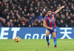Crystal Palace's Andros Townsend scores his side's first goal during the Premier League match at Selhurst Park, London, Thursday 28th December 2017