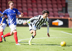 Dunfermline's Faissal El Bahktaoui. <br /> Dunfermline 7 v 1 Cowdenbeath, SPFL Ladbrokes League Division One game played 15/8/2015 at East End Park.