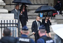 Cindy Crawford, Kaia Gerber leaving the funeral service for late photographer Peter Lindbergh held at Saint Sulpice church in Paris, France on September 24, 2019. Photo by ABACAPRESS.COM