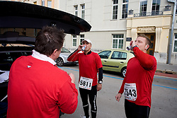 Warming up at the 14th Marathon of Ljubljana, on October 25, 2009, in Ljubljana, Slovenia.  (Photo by Vid Ponikvar / Sportida)