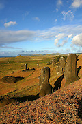 Rano Raku, Satue Quarry, Easter Island (Rapa Nui), Chile<br />
