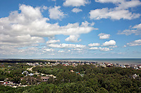 NC01359-00...NORTH CAROLINA - View south from the Observation Deck of the Currituck Beach Lighthouse on the Outer Banks at Corrola.