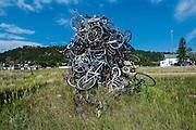 Bicycle monument, Black hills, South Dakota, USA