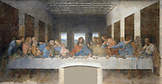 The Last Supper, 15th century mural painting in Milan created by Leonardo da Vinci for his patron Duke Ludovico Sforza and his duchess Beatrice d'Este. It represents the scene of The Last Supper from the final days of Jesus as narrated in the Gospel of Jo