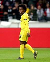 Chelsea's Willian appears dejected after a missed chance at a goal during the UEFA Europa League Semi final, first leg match at The Frankfurt Stadion, Frankfurt.