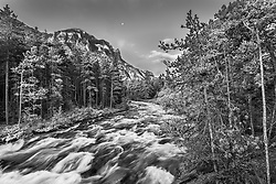 The Beartooth Range in Black and White