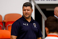 Simon Bassey Wimbledon coach during the EFL Sky Bet League 1 match between Blackpool and AFC Wimbledon at Bloomfield Road, Blackpool, England on 20 October 2018.