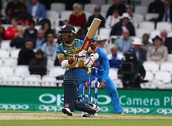 June 8, 2017 - London, United Kingdom - Kusal Mendis of Sri Lanka. during the ICC Champions Trophy match Group B between India and Sri Lanka at The Oval in London on June 08, 2017  (Credit Image: © Kieran Galvin/NurPhoto via ZUMA Press)