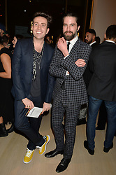 Left to right, NICK GRIMSHAW and JACK GUINNESS at Fashions for The Future presented by Oceana's Junior Council held at Phillips Auction House, 30 Berkeley Square, London on 19th March 2015.