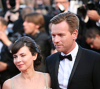 Eve Mavrakis and Ewan McGregor at the On The Road gala screening red carpet at the 65th Cannes Film Festival France. The film is based on the book of the same name by beat writer Jack Kerouak and directed by Walter Salles. Wednesday 23rd May 2012 in Cannes Film Festival, France.