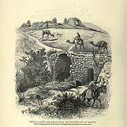 Engraving on Wood of Khan el Lejjun (the Roman Legio), the supposed site of Megiddo from Picturesque Palestine, Sinai and Egypt by Wilson, Charles William, Sir, 1836-1905; Lane-Poole, Stanley, 1854-1931 Volume 2. Published in New York by D. Appleton in 1881-1884