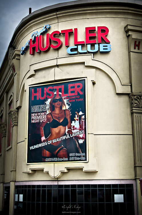 Larry Flynt's Huster Club on 51st & 12th in the Hell's Kitchen area of NYC.