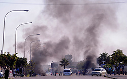 South Africa - Cape Town - 31 July 2020 - Khayelitsha residents protest for service delivery like potholes on the roads blocked drains and dirty streets, a planned land protest turned voilant  Photographer Ayanda Ndamane African News Agency(ANA)