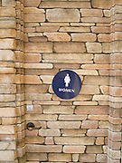stone toilet door pattern design