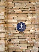 stone toilet door pattern design
