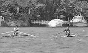 Kingston on Thames, United Kingdom.    The final Round of the Leyland Daf Sprint series, at Kingston RC on the River Thames, Surrey, England, <br /> Left Molesey BC, Ridhard STANHOPE,<br /> Saturday 04.05.1987<br /> <br /> [Mandatory Credit; Peter Spurrier/Intersport-images] 1987 Leyland Daf Sprints, Kingston. UK