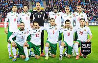 Fotball<br /> UEFA Euro 2016 Matchday 3<br /> Norge v Bulgaria / Norway v Bulgaria 2:1<br /> 13.10.2014<br /> Foto: Sjur Stølen, Digitalsport<br /> <br /> Lagbilde Bulgaria / Team photo Bulgaria<br /> <br /> Nikolay Mihaylov (13) - Mersin Idmanurdy / BUL<br /> Apostol Popov (2) - CSKA Sofia / BUL<br /> Nikolay Bodurov (5) - Fulham / BUL<br /> Ivelin Popov (9) - Kuban Krasnodar / BUL<br /> Stanislav Manolev (11) - Dynamo Moskva / BUL<br /> Georgi Milanov (17) - CSKA Moskva / BUL<br /> Svetoslav Dyakov (21) - Ludogorets / BUL<br /> Ventsislav Hristov (15) - Beroe Stara Zagora /BUL<br /> Veselin Minev (14) - Levski Sofia / BUL<br /> Aleksandar Tonev (20) - Celtic / BUL<br /> Georgi Iliev (22) - Shijazhuang Yongchang / BUL
