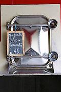 tank door sign on tank gigondas 2007 beaumette organic domaine montirius vacqueyras rhone france