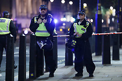 © Licensed to London News Pictures. 05/11/2018. London, UK. Police have closed Whitehall in central London after reports of a suspicious package. Photo credit: Rob Pinney/LNP
