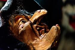 06.12.2017, Kaprun, AUT, Pinzgauer Krampustage im Bild der Sonnseit Pass des Perchtenvereins Kaprun bei ihren Hausbesuchen bei den Ortsbauern mit Krampus, Nikolaus und Engel // the Sonnseit Pass of the Perchtenverein Kaprun during their home visits at the local farmers with Krampus, St. Nicholas and angels. Krampus is a mythical creature that, accompanies Saint Nicholas during the festive season. Instead of giving gifts to good children, he punishes the bad ones, Kaprun, Austria on 2017/12/06. EXPA Pictures © 2017, PhotoCredit: EXPA/ JFK