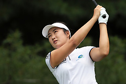 June 16, 2018 - Belmont, Michigan, United States - Su Oh of Australia tees off on the second tee during the third round of the Meijer LPGA Classic golf tournament at Blythefield Country Club in Belmont, MI, USA  Saturday, June 16, 2018. (Credit Image: © Jorge Lemus/NurPhoto via ZUMA Press)