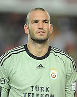 Goalkeeper Ufuk Ceylan of Galatasaray.