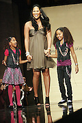 Kimora Lee Simmons and daughters at The 2009 Fall Baby Phat Fashion Show held at Gotham Hall on February 17, 2009 in New York City.