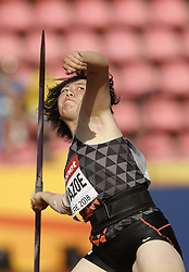 July 10, 2018 - Tampere, Suomi Finland - 180710 Friidrott, Junior-VM, Dag 1: Tomoka Kuwazoe JPN competes in Javelin Throw during the IAAF World U20 Championships day 1 at the Ratina stadion 10. July 2018 in Tampere, Finland. (Newspix24/Kalle Parkkinen) (Credit Image: © Kalle Parkkinen/Bildbyran via ZUMA Press)