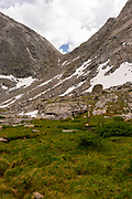 Texas Pass  in the Wind River Range, mountains in the Bridger Teton National Forest, Sublette County, Wyoming, USA.