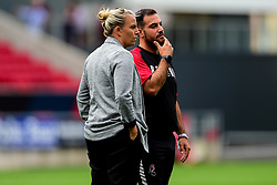 Tanya Oxtoby manager of Bristol City Women and Marco Chiavetta assistant coach for Bristol City Women - Mandatory by-line: Ryan Hiscott/JMP - 07/09/2019 - FOOTBALL - Ashton Gate - Bristol, England - Bristol City Women v Brighton and Hove Albion Women - FA Women's Super League