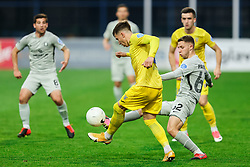 Andraž Zinic of Domzale vs Michael Pavlovic of Olimpija during football match between NK Domzale and NK Olimpija in 32nd Round of Prva liga Telekom Slovenije 2020/21, on May 5, 2021 in Sports park Domzale, Slovenia. Photo by Vid Ponikvar / Sportida