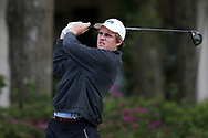 WILMINGTON, NC - MARCH 19: UNC Wilmington's Reese McFarlane tees off on the Ocean Course seventh hole. The first round of the 2017 Seahawk Intercollegiate Men's Golf Tournament was held on March 19, 2017, at the Country Club of Landover Nicklaus Course in Wilmington, NC.