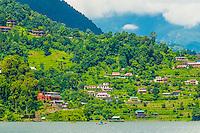 Phewa Lake, Pokhara, Nepal.