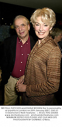 MR PAUL FLETCHER and DIANA MORAN the tv personality, at a party in London on 25th January 2001.OKS 21