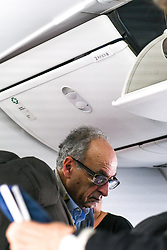 """Photo dated February 9, 2018 shows Ziad Takieddine, one of the main persons named in the Sarkozy-Gaddafi case arriving in Beirut, Lebanon, aboard a """"low cost"""" flight from Transavia airlines. He used to fly in private jets and says he personally carried millions of euros for Nicolas Sarkozy. Photo by Balkis Press/ABACAPRESS.COM"""